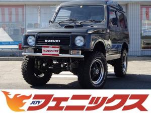 スズキ ジムニー パノラミックルーフEC 4WD 5速マニュアル FARMリフトアップTYPE-T 社外FRバンパー ウイルズウィン製エアクリ JJオリジナルマフラー J-TRAD16インチAW BFグッドリッチ225/75R16サイズタイヤ