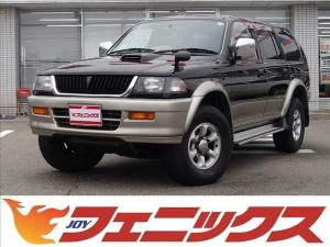 三菱 チャレンジャー X 切替4WD ワンオーナー ディーゼルターボ センターデフロック ワイドボディ 純正アルミ ターボタイマー Rスポイラー オートエアコン Wエアバッグ ABS