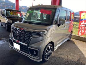 スズキ スペーシアカスタム ハイブリッドXSターボ 4WD ブレーキサポート オートエアコン ESP付 シートヒーター