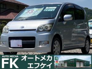 ダイハツ ムーヴ カスタム X 4WD CDオーディオ スマートキー プッシュスタート 保証付き 走行距離69211キロ ウインカー付き電動格納式ドアミラー 14インチアルミホイール ベンチシート インパネオートマ アームレスト