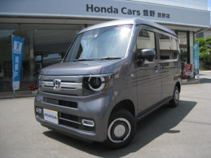 ホンダ N-VAN+スタイル ファン・ホンダセンシング 4WD 純正ナビ バックカメラ LEDオートライト スマートキー デモカー