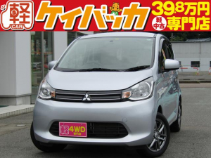 三菱 eKワゴン M 4WD 純正CDオーディオ 社外14インチアルミホイール
