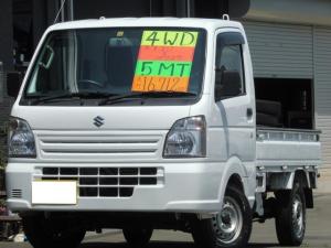 スズキ キャリイトラック KCエアコン・パワステ 4WD 5MT ドアバイザー フロアマット 走行距離16,712km エアバック