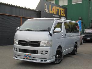 トヨタ ハイエースバン ロングスーパーGL 4WD 関東仕入 リヤモニター Fリップ
