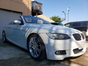 BMW 3シリーズ 335iカブリオレ Mスポーツパッケージ MスポPKG 茶革・黒内装 電動トップ 純正DVDナビ キセノンライト ETC BILSTEIN足回り プッシュエンジンスタート オートクルーズ シートヒーター キーレス