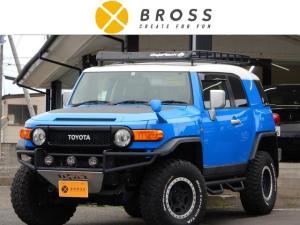 トヨタ FJクルーザー カラーパッケージ 4WD ナビTV BTオーディオ Bカメラ TRDエアーインテック BajaRackルーフラック DIFTLock IKONリフトアップキット レカロシート 社外サイドステップ