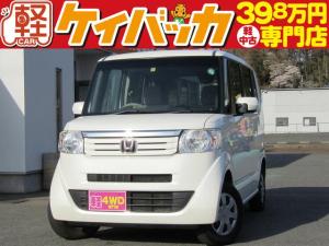 ホンダ N-BOX G・Lパッケージ 4WD 社外ナビ 左パワースライドドア 電動ドアミラー スマートキー ABS Wエアバッグ