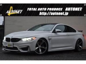 BMW M4 M4クーペ AC-SCHNITZER20AW・エアロ・リアウィング Mパフォーマンスサイドスカート KW車高調  ハーマンカードンサウンド 純正ナビTV LEDヘッドライト シートヒーター