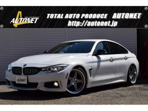 BMW 4シリーズ 420iグランクーペ Mスポーツ MKモータースポーツ19インチAW ビルシュタイン車高調 純正ナビ パドルシフト クルーズコントロール インテリジェントセーフティシステム パワーシート レーンキープ パワーバックドア ETC