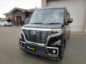 スズキ スペーシアカスタム ハイブリッドXS 4WD 両側電動ドア 全方位モニター