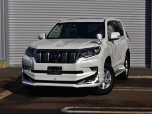 トヨタ ランドクルーザープラド TX 4WD 7人乗り 純正SDナビ サンルーフ モデリスタエアロ セーフティセンス ワンオーナー車
