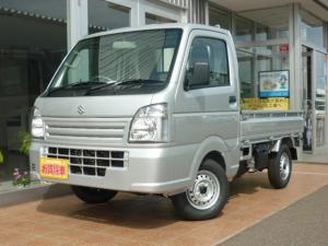 スズキ キャリイトラック KCエアコン・パワステ パートタイム4WD 5MT 届出済未使用車 最大積載350kg