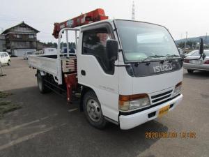 いすゞ エルフトラック 2トンクレーン車 4段ラジコンフックイン