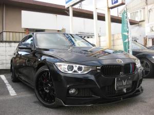BMW 3シリーズ 320d Mスポーツ 社外新品19AW タイヤ4本新品 赤皮 シートヒーター Fリップスポイラー リア&ルーフエンドスポイラー ミラーETC ドラレコ