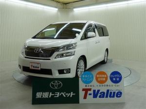 トヨタ ヴェルファイア 2.4V 4WD HDDナビ フルセグTV CD 純正アルミ