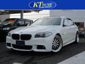 BMW 5シリーズ 528i Mスポーツパッケージ 電動サンルーフ 黒革シート 前席パワーシート D席シートメモリー クルコン 純正ナビ Bカメラ TV プッシュスタート 20AW ローダウン デュアルエアコン