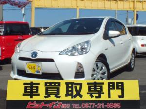 トヨタ アクア S 一ヶ月限定価格 パールホワイト モニター付きステレオ ETC