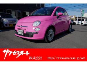 フィアット 500 ピンク 日本限定50台 専用ボディーカラーローザローザ サンルーフ 純正15インチアルミホイール 社外SDナビ 地デジ DVD/CD Bluetooth