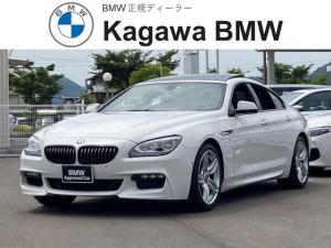 BMW 6シリーズ 640iグランクーペ ハイライン Mスポーツパッケージ 電動ガラスサンルーフ トップ&サイドビューカメラ アダプティブLEDヘッドライト 社外マフラー 純正ナビ バックモニター ETC クルーズコントロール