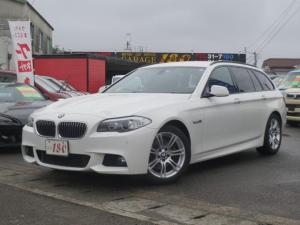 BMW 5シリーズ 523iツーリング MスポーツPKG黒本革シート純正ナビ