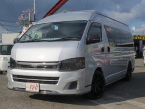 トヨタ ハイエースコミューター スーパーロングGLターボ 軽油 キャンピング8ナンバー