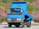 三菱ふそう/キャンター 2t 4WD 高床 強化ダンプ