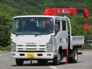 いすゞ エルフトラック 2.55t ワイドロング Wキャブ 4段フックイン