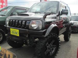 スズキ ジムニー ワイルドウインド 4WD リフトアップ 革シート ナビTV
