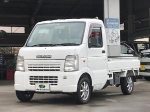 スズキ キャリイトラック KCエアコン・パワステ パートタイム4WD 高低二段切替式 5速MT 三方開