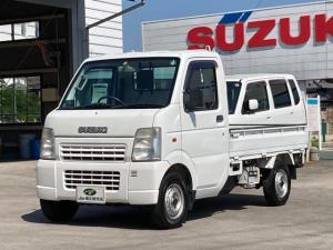 スズキ キャリイトラック KU エアコン・パワステ パートタイム4WD 高低二段切替式 5速MT 三方開