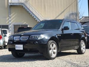 BMW X3 2.5i HDDナビ バックモニター 黒革シート ETC