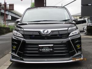 トヨタ ヴォクシー  純正エアロ ローダウン 社外アルミホイール 純正9インチナビ LEDヘッドライト Bluetooth バックカメラ スマートキー 両側電動スライドドア
