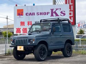 スズキ ジムニー ランドベンチャー AT リフトアップ ワンオフフロント&リアバンパー 社外LEDヘッドライト BFグッドリッチ16インチ ルーフキャリア/チッピング塗装 社外シーケンシャルテール 社外ハンドル シートカバー 4WD
