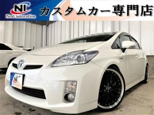 トヨタ プリウス S 新品タナベ車高調・新品19AW・新品タイヤ・フォグランプ・ステアリングリモコン・純正7型SDナビ・TV・オートエアコン