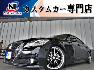 トヨタ クラウンハイブリッド アスリートS 新品車高調・新品19インチアルミホイール・新品タイヤ・クルーズコントロール・純正マルチナビ・Bluetooth・フルセグTV・HDD・バックカメラ・ETC・パワーシート・シートヒーター・Wエアコン・