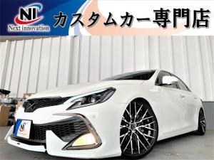 トヨタ マークX 250G リラックスセレクション 新品車高調・新品19アルミ・新品タイヤ・新品シートカバー・新品モデリスタエアロ・新品シーケンシャルヘッドライト・新品LEDファイバーテール・Cセンサ・側方カメラ・Bカメラ・純正ナビ・Bluetooth