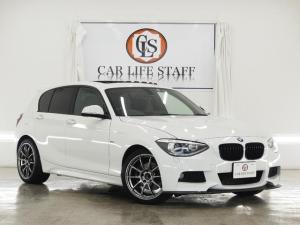 BMW 1シリーズ 120i Mスポーツ 3DデザインFスポイラー 3Dデザインマフラー シュニッツァールルーフスポイラー 社外リアディフューザー ADVAN RACING18インチAW サンルーフ HIDヘッドライト 禁煙車
