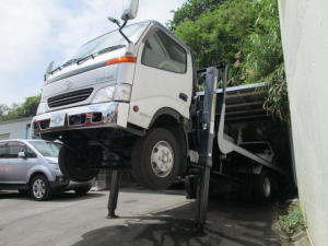 トヨタ ダイナトラック  セルフローダー 5300ccディーゼル MT6速 ハイジャッキ仕様 最大積載量3450kg 車両総重量7985kg ワイドロング