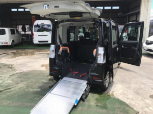 ダイハツ タント カスタムX SA 福祉車両 車椅子1基載 スローパー スマートキー ナビTV バックモニター 両側パワースライドドア アイドリングストップ 緊急ブレーキ