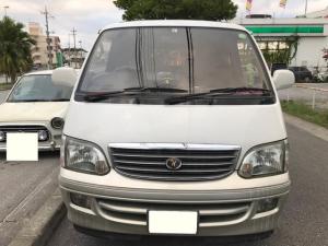 トヨタ ハイエースワゴン リビングサルーンEX ガソリン トリプルムーンルーフ 3列シート 社外アルミ 純正HID