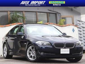 BMW 5シリーズ 528i ガラスSR ベージュレザー 純正HDDナビ地デジBカメラ Mスポ18AW 1オナ コンフォートアクセス ガレージ保管 直列4気筒ターボ 電子制御8速AT 本土仕入