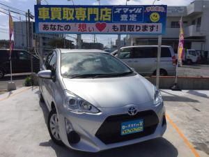 トヨタ アクア L 下取り2万円保証! 後期型 低走行 Bluetoothナビ キーレス付