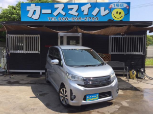 三菱 eKカスタム T ターボ車 Bluetoothオーディオ フルセグTV バックカメラ ナビ DVDビデオ スマートキー プッシュスタート