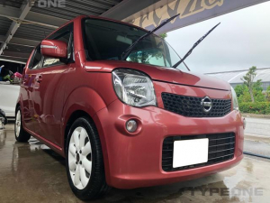 日産 モコ 2年保証 X ワンオーナー修復歴なし 社外ナビ 本土車