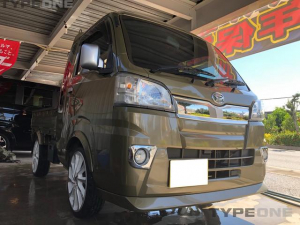 ダイハツ ハイゼットトラック ジャンボ 2年保証 社外エアロ 社外17インチアルミタイヤ新品 ナビ Bluetooth 本土車