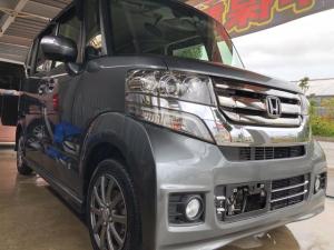 ホンダ N-BOXカスタム G・Lパッケージ 2年保証可能 通信型ナビ フルセグTV  Bluetooth バックモニター ドライブレコーダー ワンオーナー修復歴無し 本土車