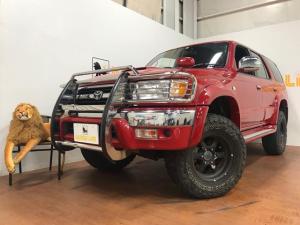 トヨタ ハイラックスサーフ SSR-X Vセレクション レッドレザーシートカバー パートタイム4WD タイミングベルト交換済み Bluetoothオーディオ 社外ナビ テレビ バックモニター
