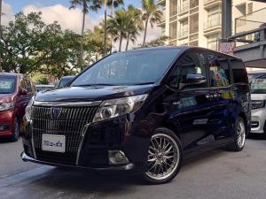 トヨタ エスクァイア ハイブリッドGi OP10年保証対象車両 両側パワースライドドア 社外18インチアルミ LEDヘッドライト おくだけ充電