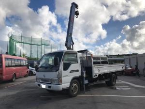 日産 アトラストラック 3段クレーン アウトリガー差し違い