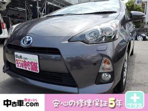 トヨタ アクア S 5年間保証付(HVバッテリー含む♪) プッシュスタート